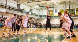 Marlborough High School's Brian Short lets his foul shot fly.