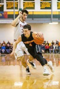 Marlborough High School's Owen Cappadona beats Concord Carlisle Regional High School's Aidan Cyr.
