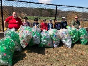 Scouts from Grafton Troop 107 at a past bottle drive. Photo/submitted