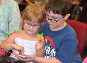 The Whitney siblings – Samantha, 3, and Joseph, 11 – participate in the Masonic Child Identification Program.