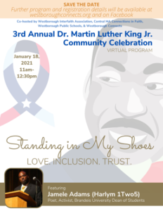Westborough Connects virtual Martin Luther King Jr. Day celebration