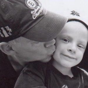 Tony Stoddard, and his son, Cole Stoddard who died of childhood cancer.