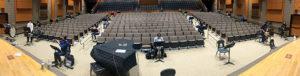 Band students in rehearsal at Shrewsbury High School