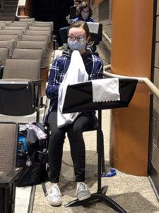 Francis Crosby plays the oboe at Shrewsbury High School
