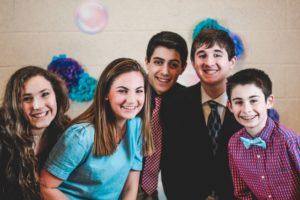 Rachel Fredman, Emma Spiro, Joseph Bellofatto, Hunter Tompkins and Jack Kelly of the Best Buddies program celebrate their annual friendship ball at Algonquin High School in February 2020.