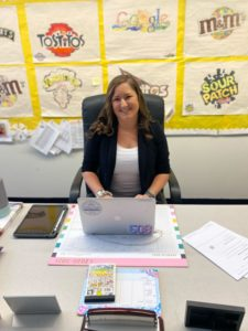 Amanda Cowgill has helped her coworkers at Gibbons Middle School book COVID-19 vaccine appointments.