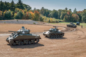 Tank driving experiences will be available throughout an upcoming weekend living history exhibition at the American Heritage Museum.
