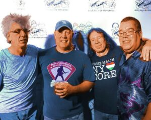 """Angry Tony and the Homewreckers bandmates (l to r) Mark """"Skippy"""" Johnson, Detective Pat Hogan, Billy Claire and retired Lt. Col. Anthony Abdal-Khabir Photo/Submitted"""