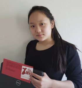 Westborough High School student Olivia Yoonseo Lee recently won recognition as part of a team that developed an app to help senior citizens schedule COVID-19 vaccine appointments.