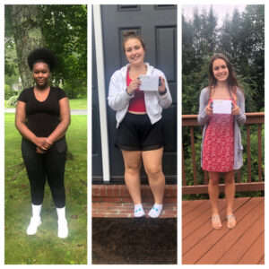 Belinda Roy, Rachel Fredman and Nicole Farmer all recently won scholarships from the Westborough Women's Club.