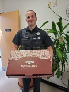 D'Angelo Grilled Sandwiches donated free lunch to the Marlborough Police Department.