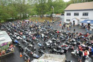 Hundreds of motorcycles fill the parking lot of Marlborough Moose Family Center 1129 prior to 2016's Shawna Jean Larassa Memorial Ride.