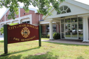 The Marlborough Fire Department Station sits on Maple Street. Photo/Laura Hayes