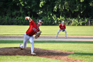Northborough's Nick Choate pitches during a recent game.