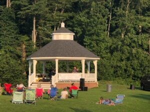 Northborough residents enjoy a live concert in 2019 by Billy Joel tribute band Cold Spring Harbor.