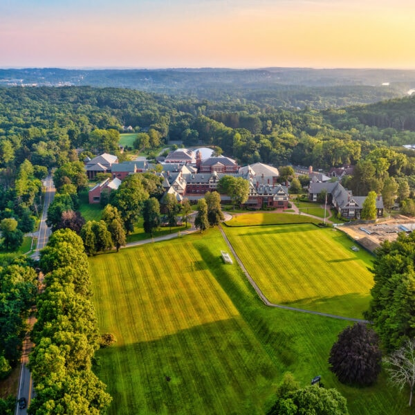 drone photo of St. Mark's School in Southborough by Tami White