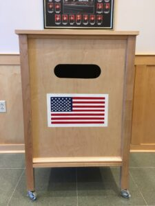 The Westborough Fire Department offered space to Justin Cappuccio for his flag disposal project.