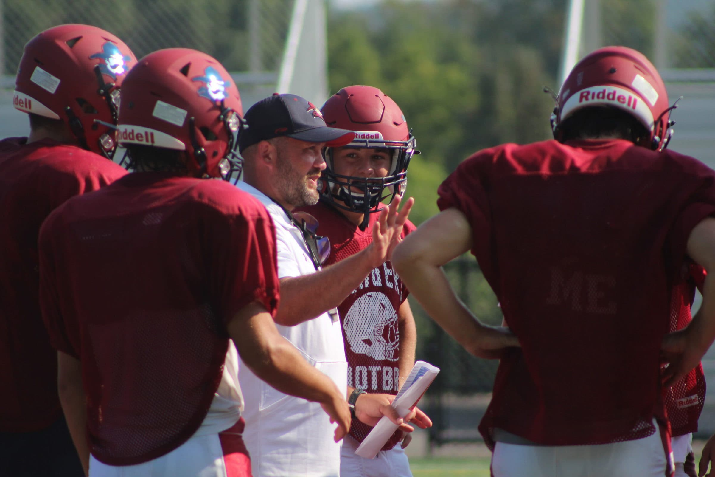 Westborough coaches talk with their players.