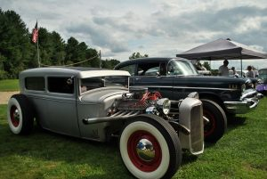 Club cars remain on display at the end of the Push Rods car club car show in Hudson on Aug. 21. (Photo/Dakota Antelman)
