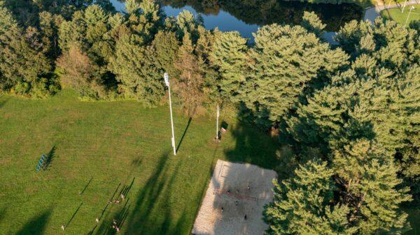 Dean Park flagpole area