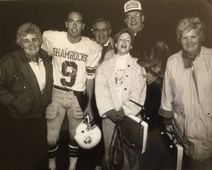 Tom Power stands in a group photo during his time with the Marlborough Shamrocks semi-pro football team.