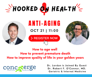 Dr. Sean Lordan of Concierge Physical Therapy will host an anti-aging seminar on his podcast on Oct. 21.