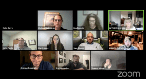 Representatives of multiple municipal boards in Southborough recently met via Zoom to discuss the town's proposed Downtown District bylaw. Screenshot/via Town of Southborough