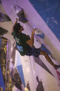 Anshul Dadwal participates in the USA climbing national competition.   (Photo/ Courtesy Udai Dadwal)