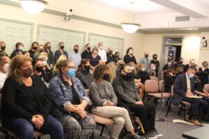 Attendees filled the Shrewsbury School Committee meeting held on Oct. 6.