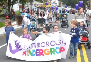 Southborough Kindergroup participants of all ages march and stroll in the Southborough Heritage Day parade. (Photo/Ed Karvoski Jr.)