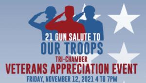 Tri-Chamber veterans event logo
