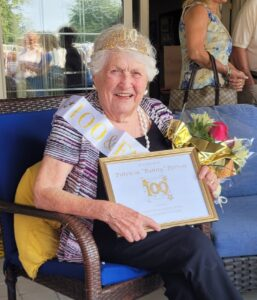 Westborough's Bunny Perron recently celebrated her 100th birthday.