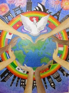 """The Westborough Lions Peace Poster contest is accepting entries until October 15th. This year's theme is """"We are All Connected."""""""