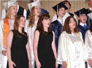 Members of the SHS Choir sing