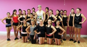 Dancers from Laurene Aldorisio's Academy of Dance Expressions meet Kyle, from the touring company of