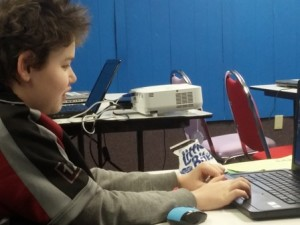 A Funutation Tech Academy student at work solving a problem. Photo/submitted