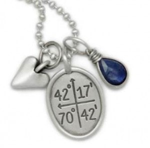 This new Special Places Charm has the Shrewsbury coordinates engraved on it. Photo/submitted