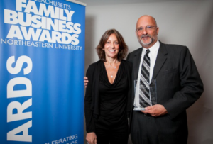 Mark and Lisa Silverman accept the 2014 award for Family Business of the Year.