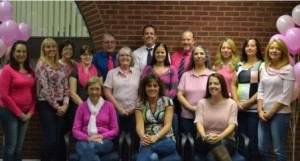 (Front row, l to r) Deb Clark, Pam LeBlanc, Jaime Salerno; (back row, l to r) Stephanie Girouard, Jenny Anderson, Lisa Chaffee, Rachel Beaudry, Rich Hebson, Deb Decoste, Steve Quink, Chelsea Prizio, Kyle Bourque, Patti Cardinale, Alison Welman, Wendy Coran and Lori Kowal Photo/submitted