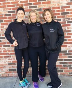 Westborough studio owner Toni Parr is flanked by trainers Julie Vander Baan (l) and Andrea Longo. Photo/submitted