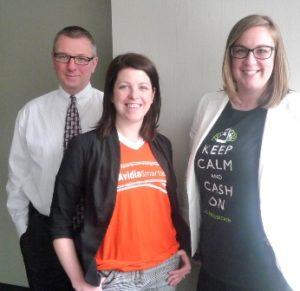 (l to r) Michael Allard, Katelin Cwieka and CarrieAnne Cormier of Avidia Bank Photo/Nancy Brumback