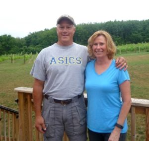 Eric and Peggy Preusse, owners of Broken Creek Vineyard Photo/Nancy Brumback