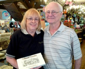 Grace and Richard Hebert, owners of Colonial Candies. Photo/Nancy Brumback