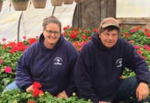 Mary Russell, manager of Perreault Nursery, and owner Joe Perreault Photo/submitted