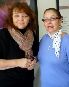 Owner Laurie Bender, left, and Felicia Cardone, training coordinator, right. (Photo/Nancy Brumback)