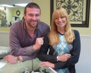 Chad Yesue, owner of Joy-Den Jewelers, and Joyce Marino, manager. Photo/Nancy Brumback