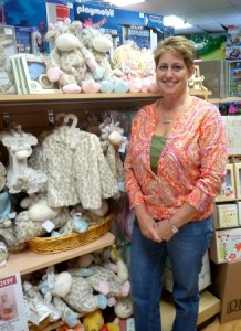 Tina Jacobson, owner of Learning Express Toys, in the store's new Baby Boutique. Photo by Nancy Brumback