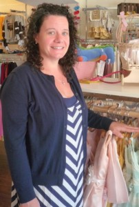 Vanessa Bono, owner of Little V Designs, in the store. Photo/Nancy Brumback