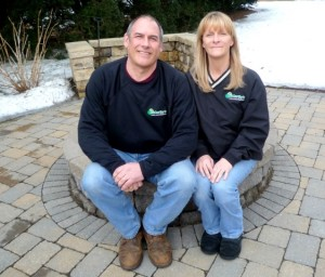 Roger and Sue McCarthy, owners of McCarthy's Landscaping. Photo/Nancy Brumback