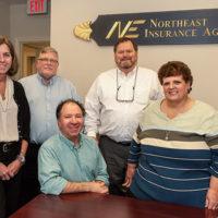 The Westborough staff of Northeast Insurance Photo/Kelly Burneson